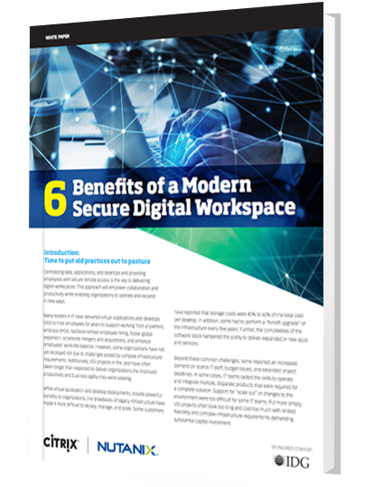 6 Benefits of a Modern Secure Digital Workplace