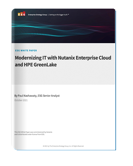 Industry Analyst Viewpoint: HPE GreenLake with Nutanix Enterprise Cloud as a Service