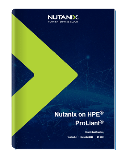 Nutanix on HPE® ProLiant®