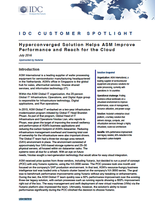 IDC Customer Spotlight: ASM International