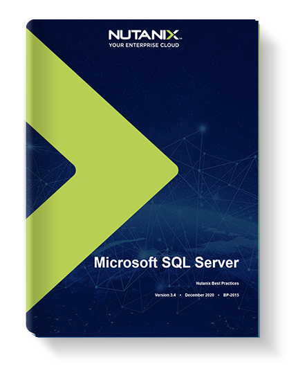Virtualize MS SQL Server on Hyperconverged Infrastructure