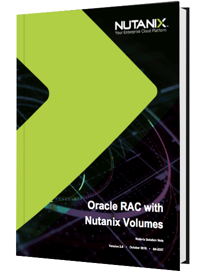 Oracle RAC with Nutanix Volumes™