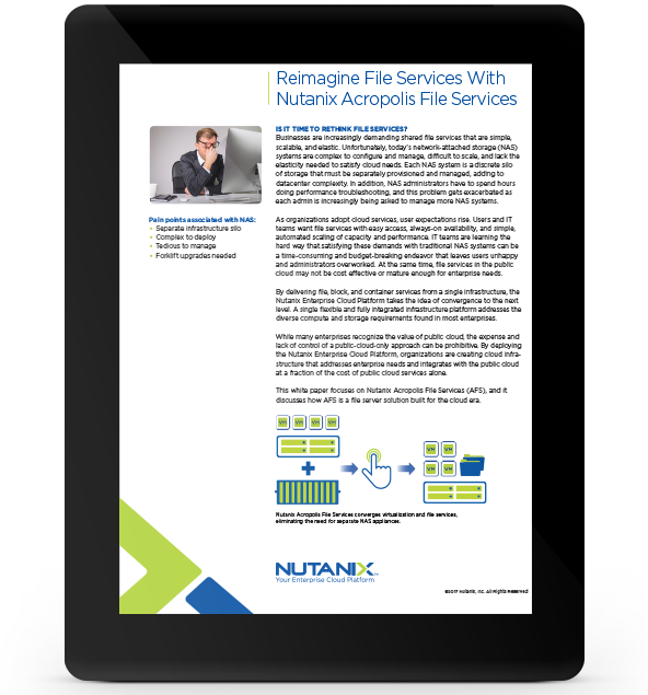 Reimagine File Services With Nutanix Files