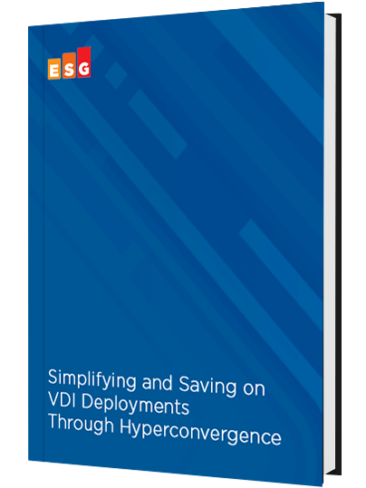 Simplifying and Saving on VDI Deployments Through Hyperconvergence