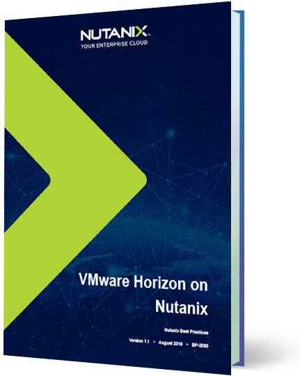 With VMware Horizon on Nutanix, you can deploy thousands of desktops with an optimal user experience for many use cases.