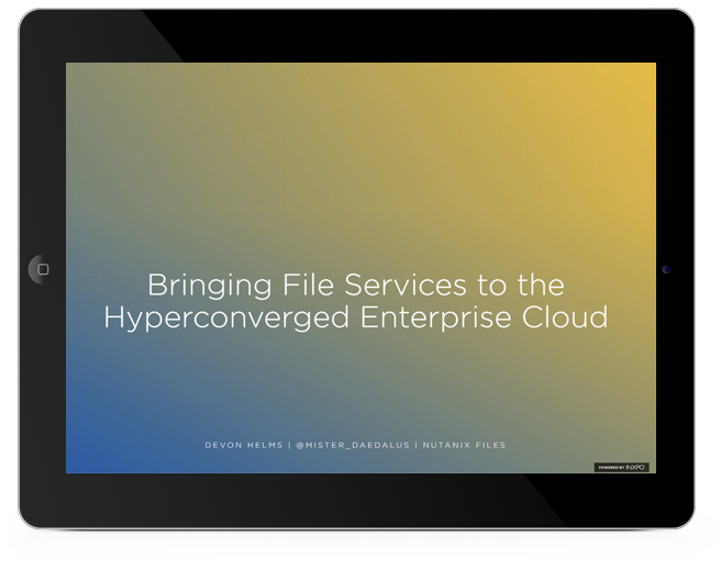 File Services for Hyperconverged Enterprise Cloud