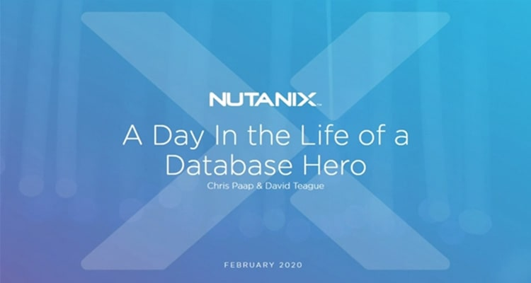 Attend this session to learn how the Nutanix Database Solution is revolutionizing the database experience for daily operations and how to take advantage of database as a service (DBaaS) to become a database hero.