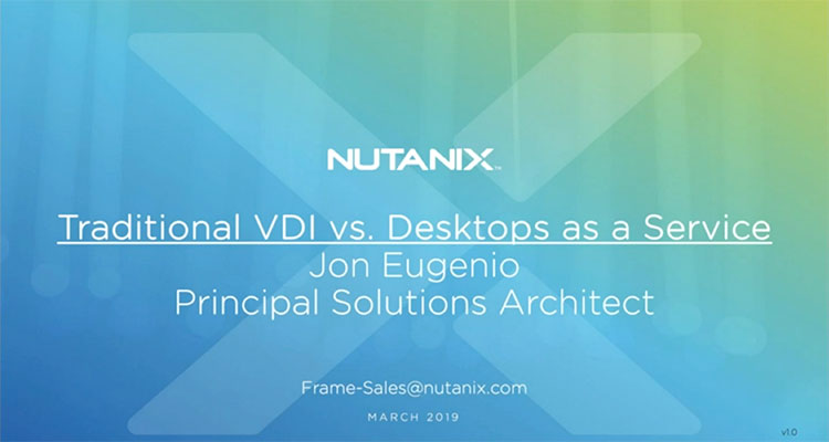 In part one of a three-part webinar series exploring the ins-and-outs of DaaS, watch this webinar to take a side-by-side look at DaaS vs. traditional VDI and see why DaaS is growing so quickly.