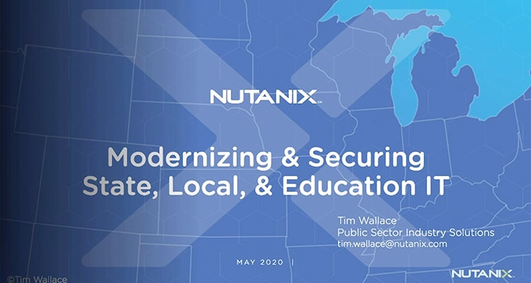 If you work in an IT organization or support IT organizations at state, local government, and educational institutions, we hope you'll join us on this event we created - just for you!