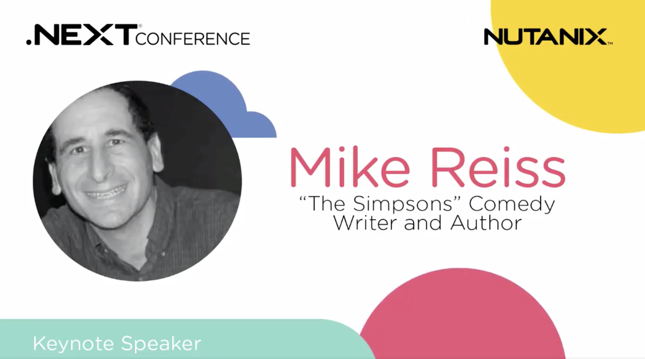 Mike Reiss ad for his keynote at .NEXT in Anaheim, Calif., May 2019
